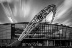 Wembley Arch (Daniel Coyle) Tags: wembleyarch wembley wembleystadium stadium football footballstadium london longexposure blur clouds blackandwhite bw northlondon danielcoyle nikon nikond7100 d7100