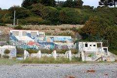 No entry (K. Sakulku) Tags: ireland ire water dublin killiney killineybeach graffiti streetart white train derelict abandoned seaside beach nature landscape