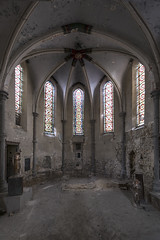 Feeling transformed (free) (Kriegaffe 9) Tags: church glass stripped decay religion chapel