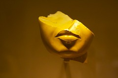 Fragment of queen's face, yellow jasper (HelenHere) Tags: newyork museum metropolitanmuseum nyc egypt egyptian