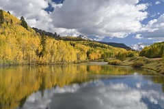Fall in Colorado's San Juan mountains (jkrieger84) Tags: nikon d500 landscape nature fall color blue sky lake reflection sanjuan mountains clouds