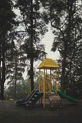 Playground (Syahrel Azha Hashim) Tags: foggy sony 2016 shallow holiday nopeople simple trees details a7ii fog highaltitude dof fun slide getaway handheld colorimage vacation prime light ilce7m2 naturallight frasershill colorful 35mm beautiful travel syahrel sonya7 playground colors morning detail pahang malaysia slider