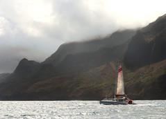 "Riding the Silver Seas (""Jimmer"" ( http://jim-vance.pixels.com )) Tags: travel adventure vacation seascape catamaran sailing napalicoast kauai hawaii landscape"