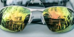 The Future's So Bright... (Sean Batten) Tags: brighton england unitedkingdom gb nikon d800 60mm macro sunglasses reflection