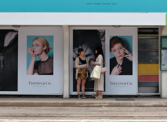 """it takes two"" (hugo poon - one day in my life) Tags: xt2 23mmf2 hongkong central tram sign two friends colours waiting"