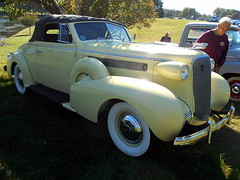 1937 Cadillac Series 60 Convertible (splattergraphics) Tags: 1937 cadillac series60 convertible carshow rustynutz jalopyrama carrollcountyagriculturalcenter westminstermd