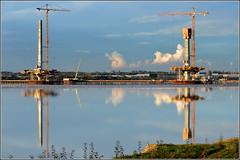 Mersey Gateway Project (Northern & Central Pylons) 21st October 2016 (Cassini2008) Tags: merseygatewayproject bridgeconstruction rivermersey reflections cablestayedbridge