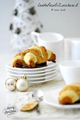 Mini croissants di sfoglia e frolla al panettone (conunpocodizucchero) Tags: natale colazione dolci