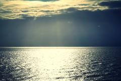 Clouds & sunshine (SteveJM2009) Tags: sun rays sea clouds coast bournemouth weather dorset uk colour december 2016 stevemaskell seascape sky vista