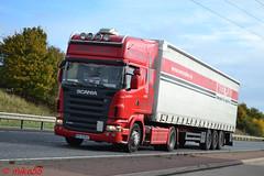 Scania R420 reg KR 5E817 (PL) (erfmike51) Tags: scaniar420 artic truck curtainside lorry topline