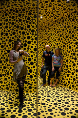 mirroring (eweliyi) Tags: 365v4 eweliyi me ja self stockholm modernamuseet yayoikusama dotsandmirrors fun flickrfriends sweden yellow reflection mirror mirrors sosij sharon andy