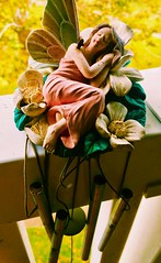 """Re""""tired"""" chimes (quietred13) Tags: figurines chimes broken fairies windchimes"""