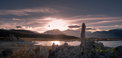 Sunset over the Sierras and Mono Lake.jpg (Eye of G Photography) Tags: california monolake monolaketrip sunsetsunrise sunset northamerica tufa usa skyclouds places sierramountians