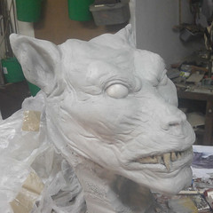 Starting with details / Szczegóły (variouseffects) Tags: wilkołak warewolf głowa maska cosplay rzeźba mold cast props vfx variouseffects