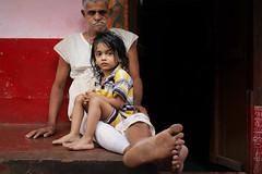 The village (slow paths images) Tags: india indiansubcontinent southasia southindia karnataka gokarna village man brahmin grandfather child kid boy grandson family indians sitting home travel