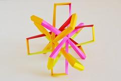 Woven Hexakis Truncated Tetrahedron (Byriah Loper) (Byriah Loper) Tags: byriahloper origami paperfolding paper