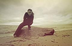 😊 Sea-selfie 😊 (lichtspuren) Tags: sea meer beach strand baltic ostsee storm sturm autumn herbst dark mood canon eos 20d tamron af 1118mm