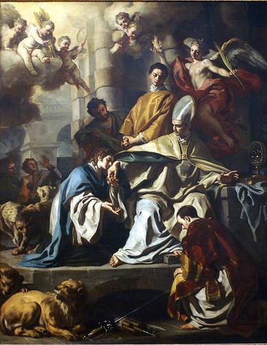 Francesco Solimena, Der hl. Januarius im Kerker, von den Heiligen Proculus und Sosius besucht (St. Januarius in teh dungeon visited by Saints Proculus and Sosius)