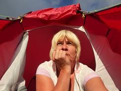 232-365 Grumpy bum !! (NSJW photos) Tags: 232 232365 2323652016 selfie selfies 365selfies tent grumpy early red sunshine morning pensive looking look camping scotland 2016 nc500 nsjwphotos