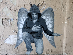 Angel (Rick & Bart) Tags: paris france city urban streetphotography rickvink rickbart canon eos70d streetart graffiti passagesaintbernard alley angel