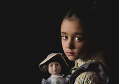The little girl and the doll (valentinazanino) Tags: old portrait caravaggio beuty beautiful pretty light shadow girl child cildren color colors colorful fineart