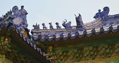Beijing - Roof Details (cnmark) Tags: hina beijing temple heaven templeofheaven park complex imperialvaultofheaven huangqiongyu roof details figure figurines architecture historic ancient 中国 北京 天坛公园 皇穹宇 ©allrightsreserved