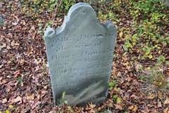 Marg T Downds 5-7-1752--4-20-1798 (Moon Rhythm) Tags: headstone grave graveyard woods hike hillsboro easternshore maryland electiondayblues 1752 1798 margtdownds stumbleupon found dayhike tuckahoewoods carolinecounty marker