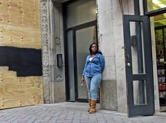 BostonChambraySmoker (fotosqrrl) Tags: boston massachusetts streetphotography urban washingtonstreet plywood smoking