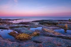 Puddles (Peter Vestin) Tags: nikond7000 tokinaatxpro122840dx siruin3204x siruik30x adobecreativecloudphotography topazlabscompletecollection rggrdsviken hammar vrmland sweden vnern nature landscape seascape sunset