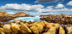 canal rocks (wendygrigsonphotography) Tags: canalrock canalrocks margaretriver westernaustralia westernaustralianationalpark australia ocean sea coast coastline rocks waves sky cloud landscape panorama