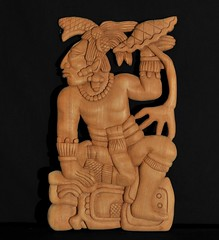 Maya Wood Carving Yucatan Mexico (Teyacapan) Tags: maya ancient carvings woodcarvings yucatan labna reproductions ruiznovelo artesanias crafts cedar cedro