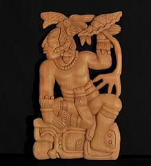 Maya Wood Carving Yucatan Mexico (Teyacapan) Tags: maya ancient carvings woodcarvings yucatan labna reproductions ruiznovelo artesanias crafts cedar cedro