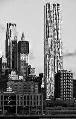 New York by Gehry (mhoffman1) Tags: oony2016 8sprucestreet beekmantower forestcityratner gehry manhattan nyc newyork newyorkbygehry sonyalpha a7r architecture blackandwhite lines monochrome wavy