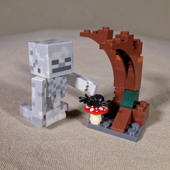 There's nothing this guy likes more than a spider hunt (Busted.Knuckles) Tags: home toys minecraft minifigures lego tree ricohgr dxoopticspro11