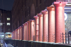 counting the columns (N-woods) Tags: warehouses albertdock rivermersey dock buildings cast iron