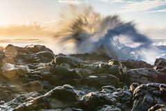 Oregon Coast volcano (alex1derr) Tags: capeperpetua devilschurn oregoncoast rocks splash spray wave