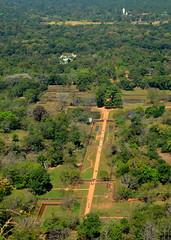 Sigiriya complex seen from above
