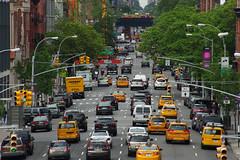 Manhattan Traffic (Gregor  Samsa) Tags: usa unitedstatesofamerica nyc newyork newyorkcity new york city town may spring exploration stroll strolling manhattan island traffic car cars cab cabs taxi taxis yellowtaxi yellowcab yellowtaxis yellowcabs