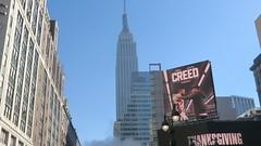"New York: ..""like a rocket launch""  (Empire State Building) (Traveller-Reini) Tags: newyork nyc northamerica nordamerika usa usaeast america amerika bigapple tower cityneversleeps urban turm empirestatebuilding strasse road metropole megapolis outdoor architektur architecture buildings square gebude wolkenkratzer skyscraper"