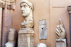 Parts of a Colossal Statue of Constantine, Rome (deemixx) Tags: rome colossal colossus constantine fragments fragmentary