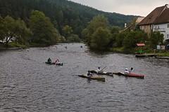 Race Day on the Vltava River 04 (smilla4) Tags: paddling boats race vltavariver moldau houses rozemberknadvltavou czechrepublic