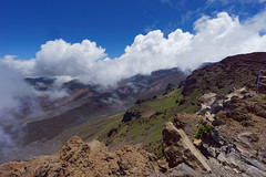 The crater (marko.erman) Tags: maui hawaii usa unitedstates haleakala houseofgod volcano shield crater caldera lava eruption mountain summit top peak view pov clouds landscape panorama mist rocks sony