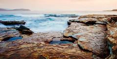 Wobbegong Bay, Murramarang National Park (Christopher Chan) Tags: australia newsouthwales coastline sunrise sea rocks sony a6000 rokinon