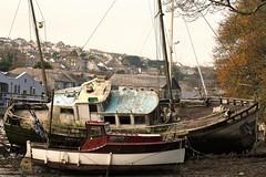 Penryn Quay, Cornwall, (cazzycoffeegirl) Tags: boat wreck quay penryn