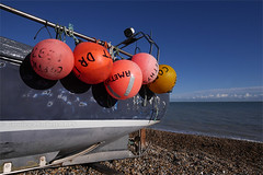 Day #3246 (cazphoto.co.uk) Tags: panasonic lumix dmcgh3 panasonic714mmf4lumixgvario project366 beyond2922 191116 boat floats deal kent shingle beach englishchannel