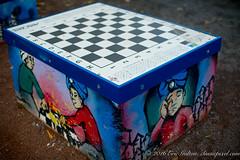 Chess Table (Classicpixel (Eric Galton) Photography Portfolio) Tags: chess échecs table graffiti urban urbaine play jeux montréal québec art city ville ericgalton classicpixel nikon 50mmf12ais