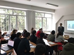 "Lectures delivering on December 5th 2016 on Al Farabi Kazakh National University, Almaty (4) <a style=""margin-left:10px; font-size:0.8em;"" href=""https://www.flickr.com/photos/89847229@N08/31402836336/"" target=""_blank"">@flickr</a>"