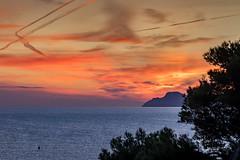 Sunset, Alcudia, Mallorca,  ES (Dr. Barloi) Tags: muro illesbalears spanien es sunset sea meer wasser rot sky orange