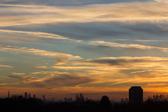 Winter in the City (ArtGordon1) Tags: winter sunset silhouette silhouettes clouds cloud weather sky walthamstow london england uk e17 davegordon davidgordon daveartgordon davidagordon daveagordon artgordon1