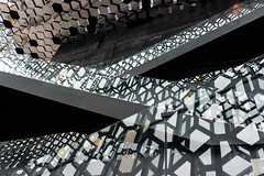 Abstract geometry (trochford) Tags: light shadow abstract reflection building geometric architecture canon iceland pattern geometry interior indoor monotone monochromatic reykjavik stairway walkway harpa somecolor touchofcolor hintofcolor